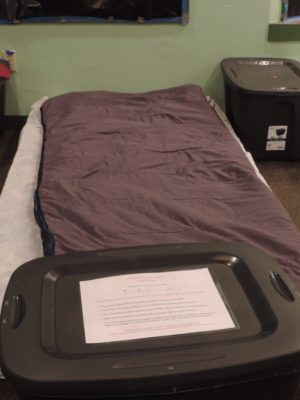Optimized-B1 warming shelter bed